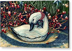 Christmas Goose Acrylic Print by Janine Riley