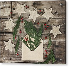 Acrylic Print featuring the photograph Christmas Greens by Kim Hojnacki