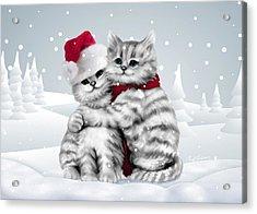 Christmas Hug Acrylic Print