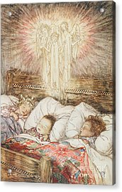 Christmas Illustrations From The Night Before Christmas Acrylic Print by Arthur Rackham