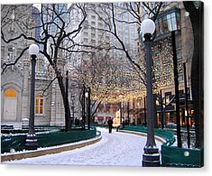 Christmas In Chicago Acrylic Print