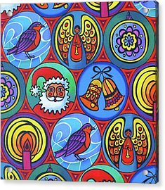 Christmas In Circles Acrylic Print by Jane Tattersfield