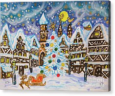 Christmas In Europe Acrylic Print by Irina Afonskaya