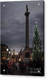 Christmas In Trafalgar Square, London Acrylic Print
