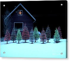 Acrylic Print featuring the photograph Christmas In Petersburg by Laura Wong-Rose