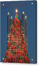 Acrylic Print featuring the photograph Christmas In Pittsburgh 2016  by Emmanuel Panagiotakis