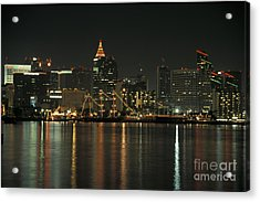 Christmas In San Diego Acrylic Print by Stan and Anne Foster