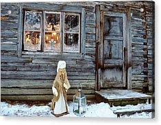 christmas in Scandinavia Acrylic Print by Tamara Sushko