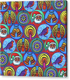 Christmas In Small Circles Acrylic Print by Jane Tattersfield