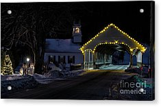 Christmas In Stark New Hampshire Acrylic Print
