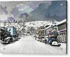 Christmas In Susanville, 1953 Acrylic Print