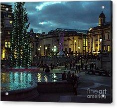 Christmas In Trafalgar Square, London 2 Acrylic Print