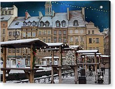 Acrylic Print featuring the photograph Christmas In Warsaw by Juli Scalzi