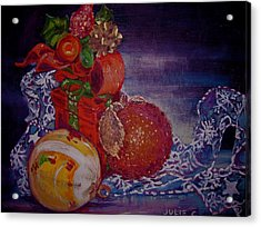 Christmas Acrylic Print by Julie Todd-Cundiff