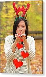 Acrylic Print featuring the photograph Christmas Kisses.. by Nina Stavlund
