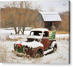 Christmas Lawn Ornament Acrylic Print by Lori Deiter