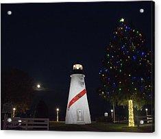 Christmas Lighthouse Acrylic Print