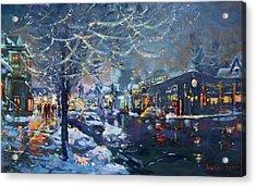 Christmas Lights In Elmwood Ave  Acrylic Print