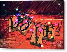 Christmas Love Decoration Acrylic Print by Jorgo Photography - Wall Art Gallery