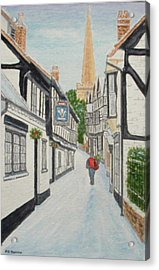 'christmas Mail', Ledbury, Herefordshire Acrylic Print