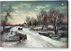Christmas Morn, C1885 Acrylic Print by Granger