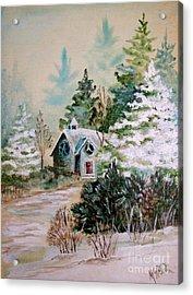 Christmas Morn Acrylic Print by Marilyn Smith