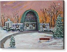 Christmas Morning At Sacred Heart Church Acrylic Print by Rita Brown