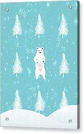 Christmas Morning Bear Acrylic Print