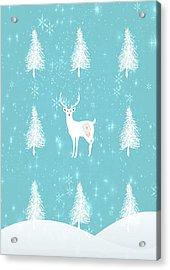Christmas Morning Stag Acrylic Print