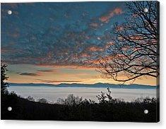 Acrylic Print featuring the photograph Christmas Morning Sunrise 2016 by Lara Ellis