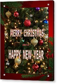 Christmas New Year Card Acrylic Print