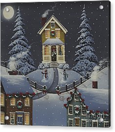 Christmas On Hickory Hill Acrylic Print by Catherine Holman