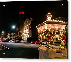 Christmas On Main Street Easthampton Acrylic Print