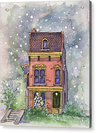 Christmas On North Hill Acrylic Print