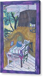 Christmas On The Deck In Santa Fe Acrylic Print by James SheppardIII