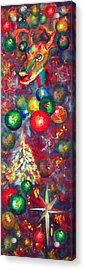 Christmas Orbs Acrylic Print by Peter Bonk