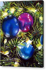 Christmas Ornaments Acrylic Print by Carole Haslock