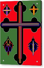 Christmas Ornate 1 Acrylic Print