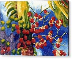 Christmas Palm Acrylic Print