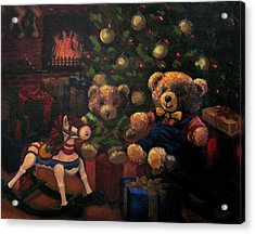 Acrylic Print featuring the painting Christmas Past by Karen Ilari