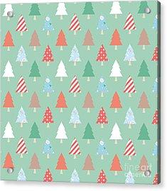 Christmas Pillow Acrylic Print by Edward Fielding
