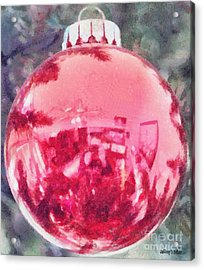 Christmas Reflected Acrylic Print by Jeff Kolker