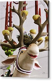 Acrylic Print featuring the photograph Christmas Reindeer Games by Betty Denise