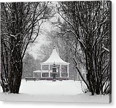 Christmas Season In The Park Acrylic Print