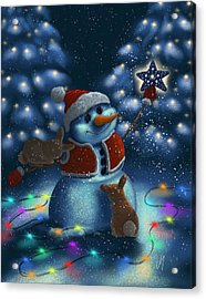 Christmas Season Acrylic Print by Veronica Minozzi