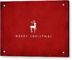 Christmas Series Christmas Deer Acrylic Print