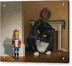 Acrylic Print featuring the painting Christmas Stalking by Joe Winkler