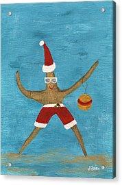 Christmas Starfish Acrylic Print