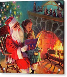 Acrylic Print featuring the painting Christmas Story by Steve Henderson