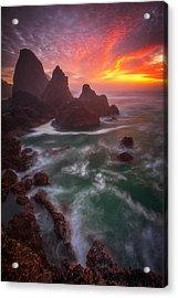 Christmas Sunset Acrylic Print by Darren White